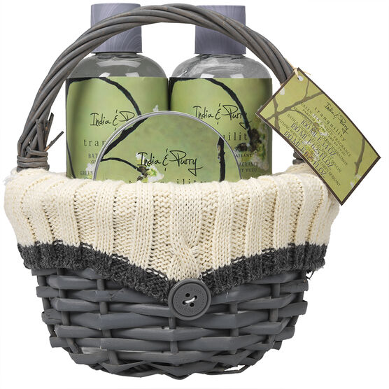 India & Purry Tranquility Spa Gift Set with Basket - 3 piece