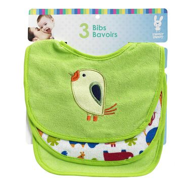 Honey Bunny Terry Bibs - 3 pack - Assorted