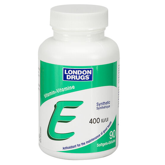 London Drugs Vitamin E Softgels - 400iu - 90's