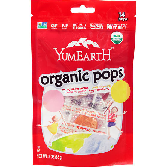 Yum Earth Organics - Organic Pops - 85g