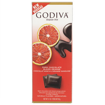 Godiva Dark Chocolate Bar - Blood Orange - 90g