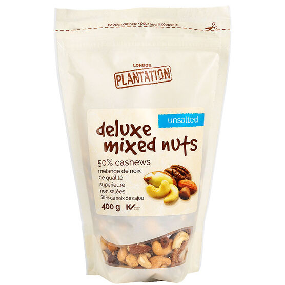 London Plantation Mixed Nuts - Unsalted - 400g