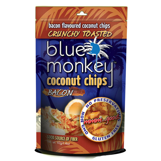 Blue Monkey Coconut Chips - Bacon - 40g