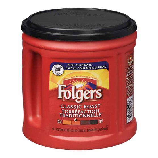 Folgers Classic Roast Ground Coffee - 920g
