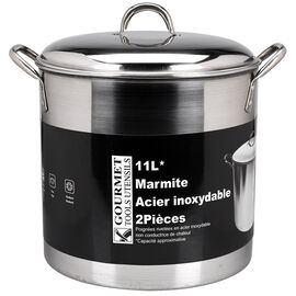Stock Pot with Dome Lid - 11L