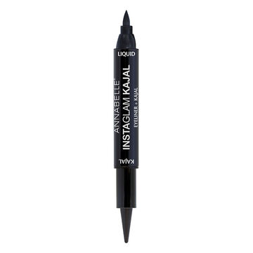 Annabelle Instaglam Liquid Eyeliner + Kajal - Black