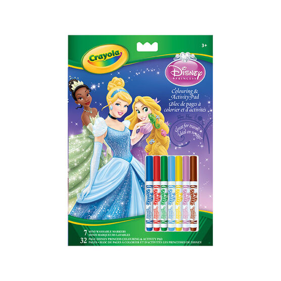 Crayola Colouring & Activity Book - Disney Princess