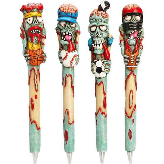 Hand Painted Zombie Pens - Assorted