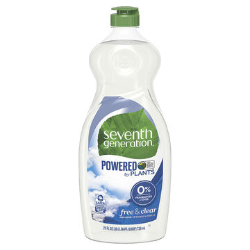 Seventh Generation Natural Dish Liquid - Free & Clear - 739ml