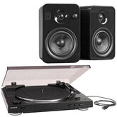 Sony USB-Out Turntable and Kanto YUMI Powered Bookshelf Speakers Package - PKG #17376 - PSLX300USB/YUMIBLKGL