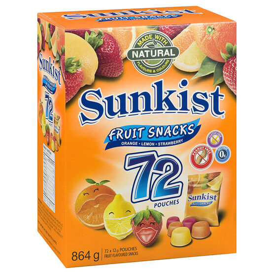 Sunkist Fruit Snacks - 72's