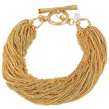 Kenneth Cole Multi Chain Bracelet - Gold Tone