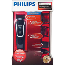 Philips 5 Piece Multigroom Kit - Black - QG3330/16