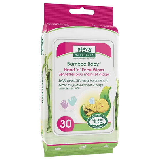 Bamboo Hand & Face Wipes - 30's