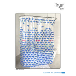Splash Vinyl Shower Curtain - Tryst