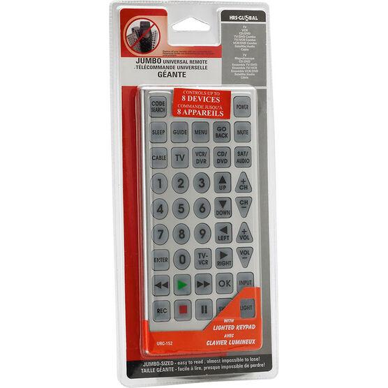 Jumbo Universal Remote - Silver - URC152
