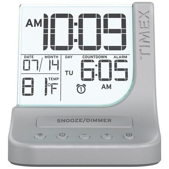 Timex Dual Alarm Clock - Silver - T125