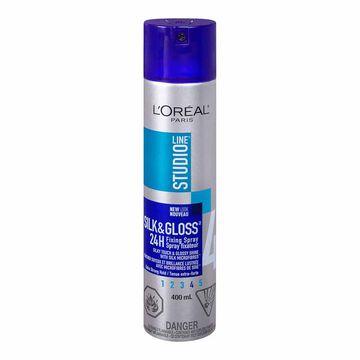 L'Oreal Studio Silk & Gloss Extra Strong Hairspray - 400ml