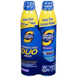 Coppertone Sport Continuous Spray Sunscreen - SPF30 - 2 x 222ml