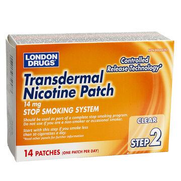 London Drugs Transdermal Nicotine Patch Step 2 - 14mg - 14's