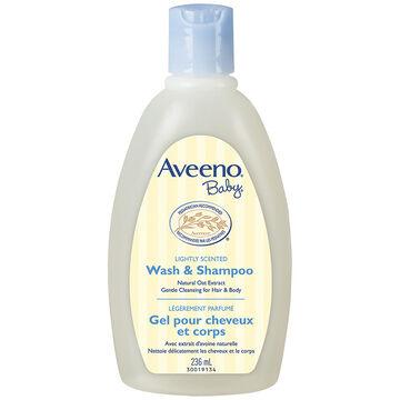 Aveeno Baby Wash and Shampoo - Lightly Scented - 236ml