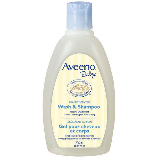 Aveeno Baby Wash and Shampoo - Lightly Scented - 236ml