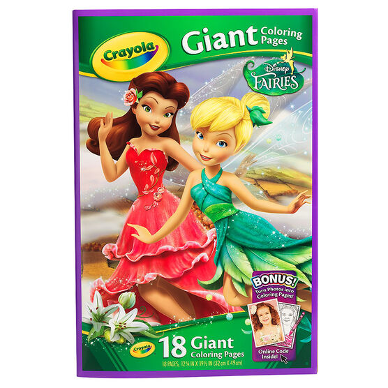 Crayola Giant Colouring Pages - Disney Fairies
