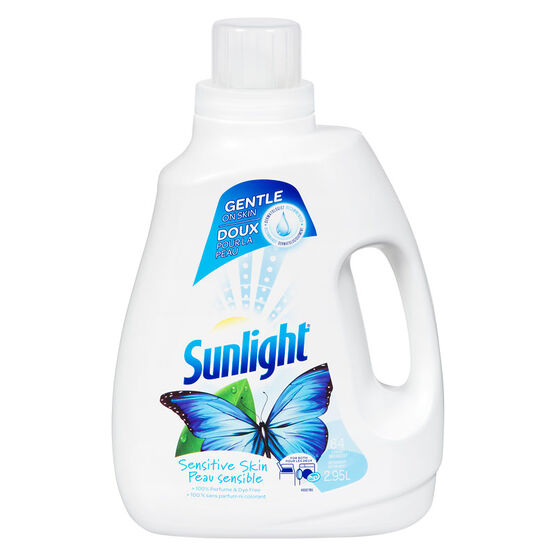 Sunlight 2X Liquid Laundry Detergent - Sensitive Skin - 2.95L/64 Uses