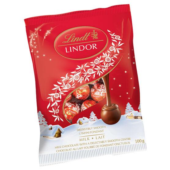 Lindt Lindor Mini Milk Chocolate Balls - 100g