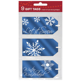 Christmas Winter Night Luggage Gift Tags - 9s