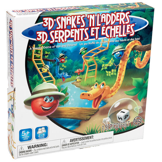 3D Snakes'n Ladders Game