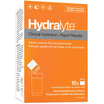 Hydralyte Electrolyte Powder - Orange - 10 x 5g
