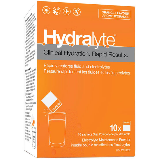 Hydralyte Electrolyte Powder - Orange - 10 x 5g