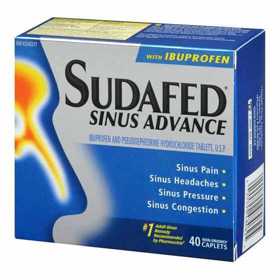 Sudafed Sinus Advance - 40 Pack