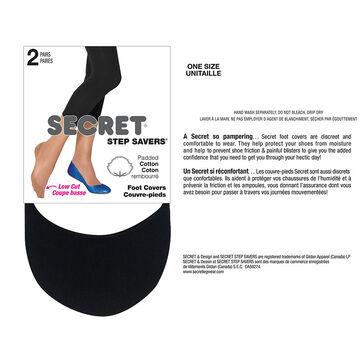 Secret Step Saver Foot Cover - Black - 2 pair
