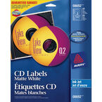 Avery Matte White CD Labels for Inkjet Printers -  40 labels