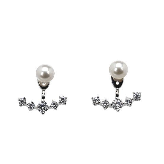 Eliot Danori Nova Pearl Earrings - Rhodium