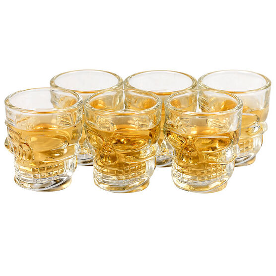 Skull Shot Glass - 50ml - 6 pack