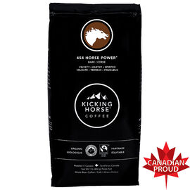 Kicking Horse Organic Whole Bean Dark Coffee - 454 Horse Power - 454g