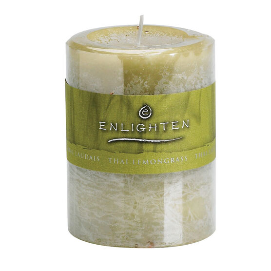 Enlighten Pillar Candle - Lemon Grass - 3x4inch