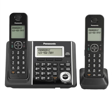 Panasonic DECT 6.0 2-Handset Dual Keypad with Cordless Answering System - Black - KXTGF342B