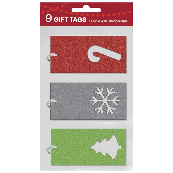 Christmas Red/White/Green Luggage Gift Tags - 9s