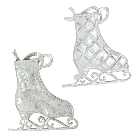 Christmas Forever Ice Skate Ornament - Silver/White - XM-MS1361 - Assorted