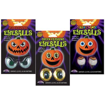Halloween Lite-Up Glowing Pumpkin Eyeballs - Assorted