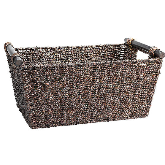 London Drugs Seagrass Basket - Dark Brown - Medium