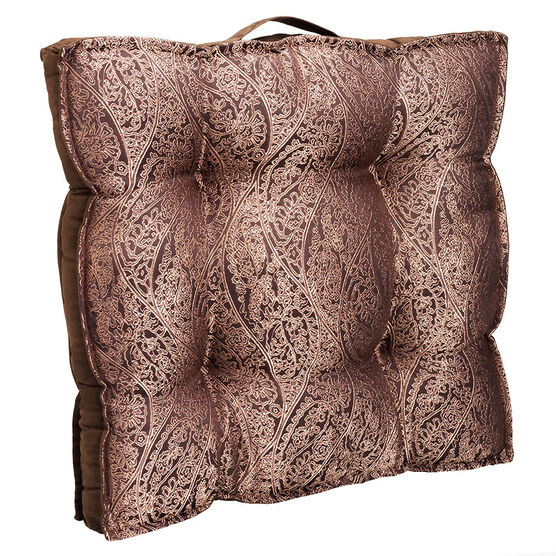 London Drugs Jacquard Chairpad - Brown - 55 x 55cm