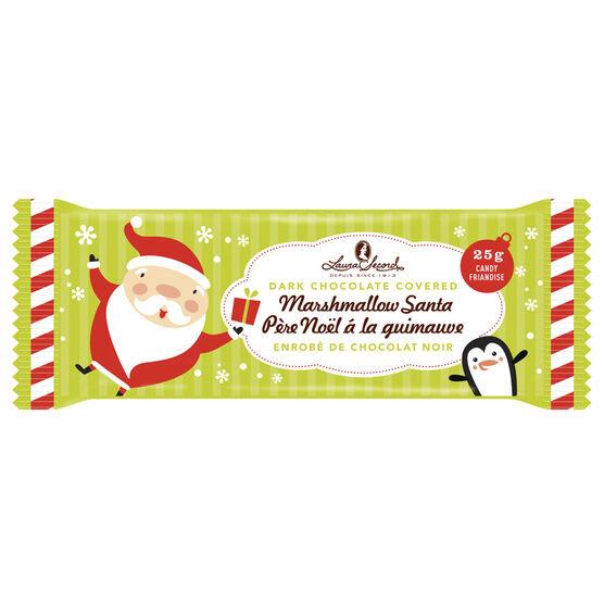 Laura Secord Dark Chocolate Covered Marshmallow Santa - 25g