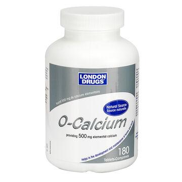 London Drugs O-Calcium - 500mg - 180's