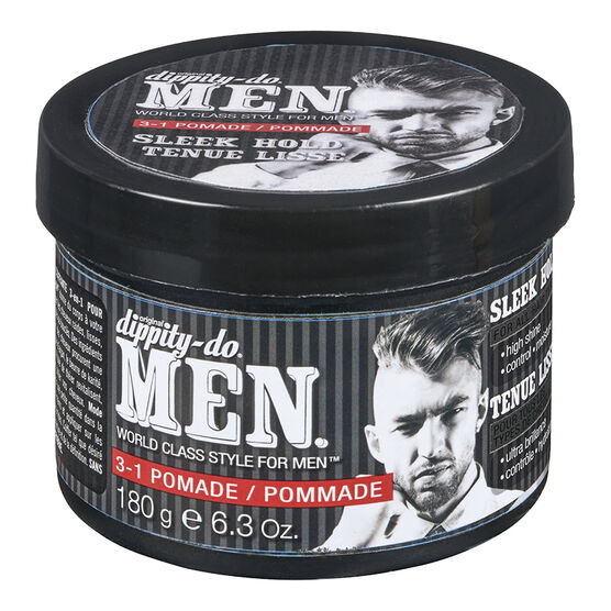 Dippity-Do Men Pomade 3 in 1 Pomade - Sleek Hold- 180g