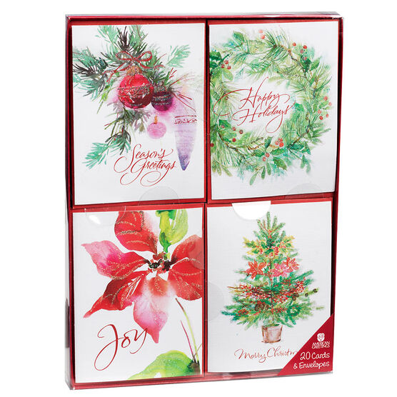 Plus Mark Christmas Cards - Mini Reds - 20 count - Assorted